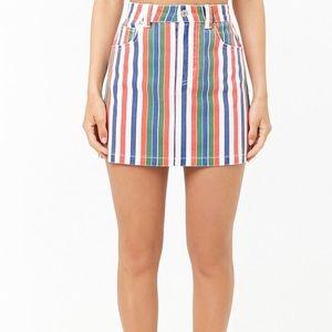 Forever 21 high waisted striped mini skirt 🌈